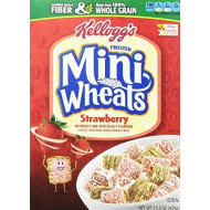 Kellogg's Frosted Mini Wheats Bite Size Strawberry Delight 15.5 Ounce (Pack of 2)