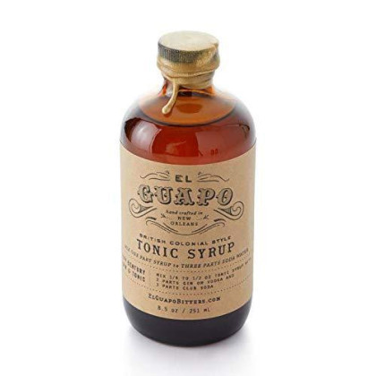 El Guapo Tonic Syrup - British Colonial Style 8.5Oz Glass Bottle