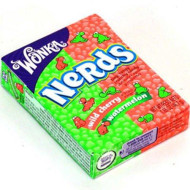 Wonka Watermelon & Wild Cherry Nerds Candy Packs 1 Count