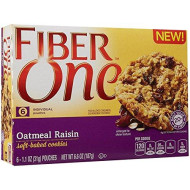 Fiber One Soft Baked Cookies - Oatmeal Raisin - 6.6 Oz (Pack of 3)