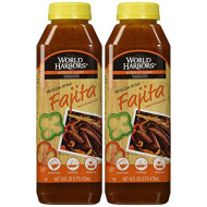World Harbors, Chicken Or Beef, Mexican Fajita Sauce & Marinade, 16Oz Bottle (2 Pack)