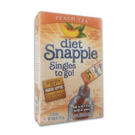 Diet Snapple Peach Tea Soft Drink Mix 6 Sticks In Each Box (2 Pack)... Iwgl