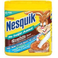 Nestle Nesquik No Sugar Added Chocolate Powder 16 Ounce (Pack of 3)