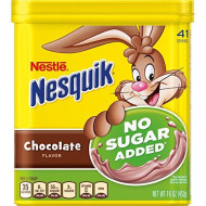 Nestle Nesquik No Sugar Added Chocolate Powder 16 Ounce (Pack Of 2)