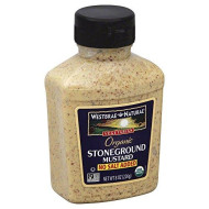 Westbrae Natural Stoneground Mustard No Salt Added -- 8 Oz (Pack Of 3)