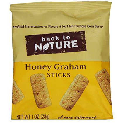 Back to Nature Cookies, Non-GMO Honey Graham Stick, 1 Ounce Grab & Go Bags, 8 Count (Packaging May Vary)