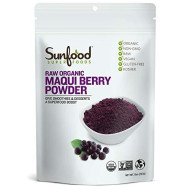 Sunfood Superfoods Maqui Berry Powder | Raw, Organic, Non-Gmo, Gluten Free, Kosher | Highest Quality | Pure, Single Ingredient Product | Ultra-Clean (No Fillers, Additives Or Preservatives) | 8 Oz Bag