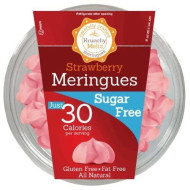 Krunchy Melts - Sugar Free Meringues - Strawberry Flavor - 2 Oz Tub