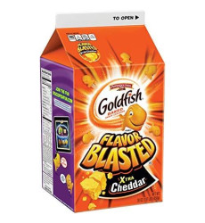 Pepperidge Farm Goldfish Flavor Blasted Xtra Cheddar Crackers, 30 Ounce Carton (Pack Of 6)