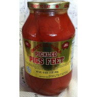 Matt & Dana Pickled Pigs Feet In A Quart Jar