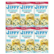 Jiffy, Blueberry Muffin Mix, 7oz Box (Pack of 6)