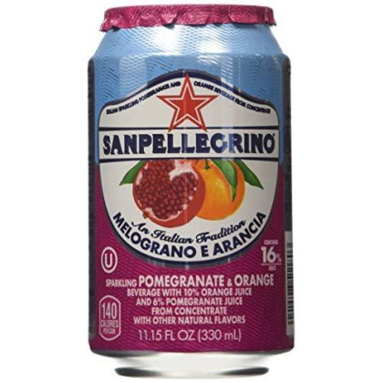 San Pellegrino Melograno E Arancia (Pomegranate & Orange) 11.15 Fl Oz 12 Pack
