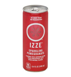 Izze Sparkling Juice, Pomegranate, 8.4 Oz Can