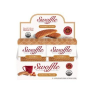The Original Caramel Swoffle | Organic & Gluten Free Snack | Waffle Cookie, 16 Count |