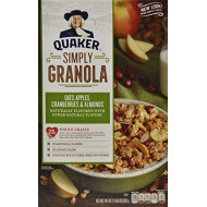 Quaker Simply Granola Cereal, Apple Cranberry Almond, 24.4 Oz