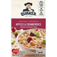 Quaker Instant Oatmeal, Apple Cranberry, 12.1 Oz