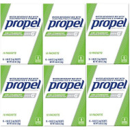 Propel Zero Calories Water Beverage Mix with Vitamins Kiwi Strawberry 10 Packets (Pack of 6)