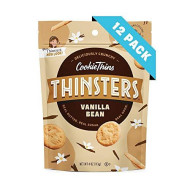 Thinsters Cookie Thins Vanilla Bean, 4 Ounce (Pack of 12), Non GMO, Peanut Free