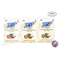Zest Creamy Cocoa Butter & Shea Soap, 6 Bars, 3.2 Oz. Each