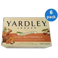 Yardley London Naturally Moisturizing Bath Soap Shea Buttermilk 4.25 Oz.. (6 Bars).. Hpvagr