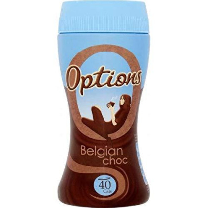 Options Belgian Chocolate Instant Hot Chocolate Drink (220G)