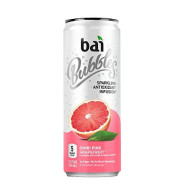 Bai Bubbles, Sparkling Water, Gimbi Pink Grapefruit, Antioxidant Infused Drinks, 11.5 Fl Oz, Pack Of 12