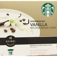 Starbucks Vanilla Coffee K-Cups, 0.35 Oz, 16 Count