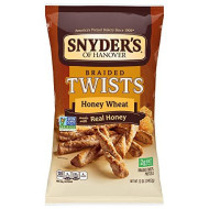 Snyder'S Braided Twists Honey Wheat 12Oz. (Pack Of 5)