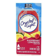 Crystal Light On The Go Raspberry Lemonade Drink Mix, 10-Packet Box (Pack Of 5)