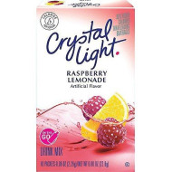 Crystal Light On The Go Raspberry Lemonade Drink Mix, 10-Packet Box (Pack Of 4)