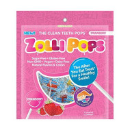 Zollipops Clean Teeth Lollipops | Anti-Cavity, Sugar Free Candy With Xylitol For A Healthy Smile - Great For Kids, Diabetics And Keto Diet (Strawberry, 3.1Oz, Approx 15 Count)