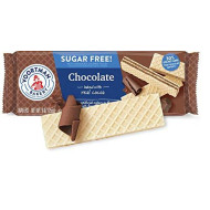 Voortman Bakery Sugar-Free Chocolate Wafers, 9 oz., Pack of 4 - Sugar-Free Wafer Cookies Made with Real Cocoa, No Artificial Colors, Flavors or High-Fructose Corn Syrup