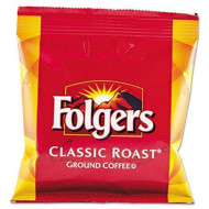 Folgers 06430 Coffee, Fraction Pack, Classic Roast, 1.5oz, 42/Carton