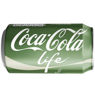 Coke Life Reduced Calorie Coca Cola with Stevia 12 Oz Cans - Case of 24