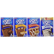 Pop Tarts Frosted Variety Pack, Chocolate Flavors: S&Quot;Mores, Cookies And Cream, Chocolate Chip Cookie Dough, Chocolate Fudge. Bundle Of 4- 8 Count Boxes, 1 Of Each Flavor. Great Care Package