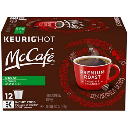 Mccafe Premium Decaf Medium Roast Coffee Keurig K Cup Pods (12 Count)