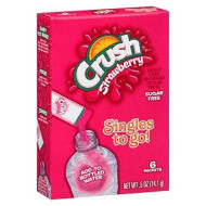 Crush Trio Singles To Go! Drink Mix, 0.5 Oz, 6 Count Strawberry Orange And Grape