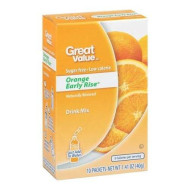 Great Value Sugar Free, Low Calorie Orange Early Rise Drink Mix (Pack Of 6)