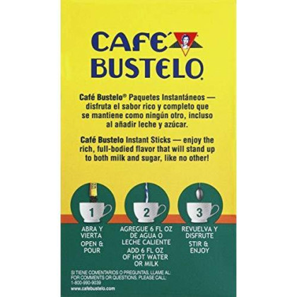 Cafe Bustelo Coffee, Decaf Instant Coffee Single Serve Packets, 0.09 Ounce (Pack Of 72)