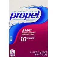 Propel Zero Calories Water Beverage Mix With Vitamins Berry 10 Packets (Pack Of 6)