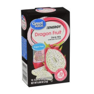 Great Value Sugar Free, Low Calorie Energy Dragon Fruit Drink Mix (Pack Of 6)