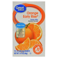 Great Value Sugar Free, Low Calorie Orange Early Rise Drink Mix (Pack Of 2)