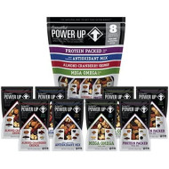 Power Up Trail Mix Variety 8 Pack, Non-Gmo, Vegan, Gluten Free, Keto And Paleo Friendly, 4 Flavors (Mega Omega, Protein Packed, Antioxidant, Almond Cranberry Crunch), Pack Of 8, 18 Oz Bag