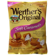 Werther'S Original Soft Caramels, 4.51 Ounce Bag (Pack Of 12), Bulk Candy, Individually Wrapped Candy Caramels, Caramel Candy Sweets, Bag Of Candy