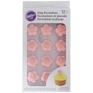 "Wilton W101490 Royal Icing Decorations (12 Pack), 1"", Petal Pink"