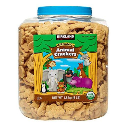 Kirkland Signature Usda Certified Organic Animal Crackers 4Lb Container 2 - Count