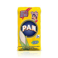 P.A.N. White Corn Meal - Pre-Cooked Gluten Free And Kosher Flour For Arepas, 2.27 Kg (5 Lb)