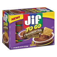 Jif To Go 24112 Spreads Chocolate Silk 1.5 oz Cup 8/Box