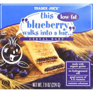 "Trader Joe'S ""Walks Into A Bar"" Cereal Bar Bundle - 4 Items: (1) 6 Bar Box Each Flavor: Blueberry, Fig, Strawberry & Apple (24 Bars Total)"