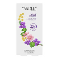 Yardley April Violets Luxury Bar Soap Set For Women, 3 Count